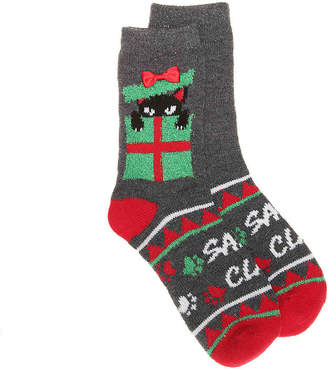 Mix No. 6 Ugly Holiday Sweater Santa Claws Crew Socks - Women's