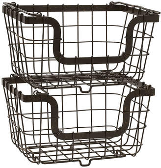 Mikasa General Store 2 Stacking & Nesting Baskets