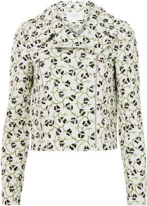 Giambattista Valli Floral Jacquard Moto Jacket