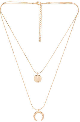 EIGHT by GJENMI JEWELRY Crescent Full Moon Double Necklace