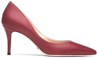 Sebastian Milano Burgundy Leather Pumps