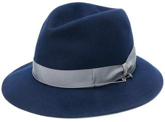 Borsalino contrast strap hat