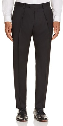 HUGO Pleated Slim Fit Wool Trousers $245 thestylecure.com