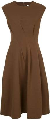 Jil Sander cinched waist midi dress