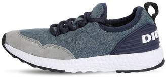Diesel Denim Effect Neoprene Running Sneakers
