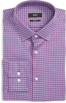 BOSS Marley Sharp Fit Check Dress Shirt