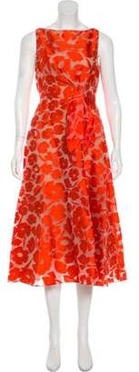 Lela Rose Embroidered Midi Dress w/ Tags