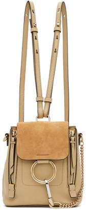 Chloé Beige Mini Faye Backpack
