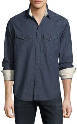 Rag & Bone Men's Beck Denim Western Shirt