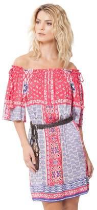 Hale Bob Sienna Off Shoulder Satin Dress