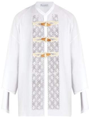 J.W.Anderson Broderie Anglaise Cotton Shirt - Mens - White