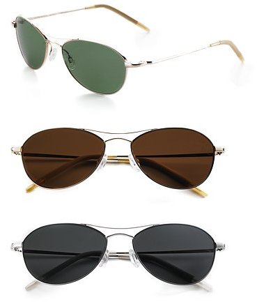 Oliver Peoples Aero 57 Polarized Metal Sunglasses