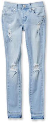 Pinc Premium Girls 7-16) Light Wash Distressed Jeans