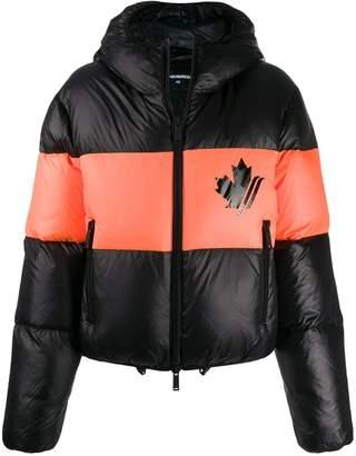 DSQUARED2 maple leaf puffer jacket