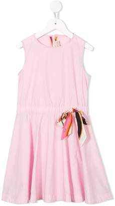 Emilio Pucci Junior bow detail flared dress