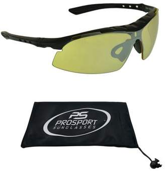 d3ccab0db3e proSPORT Sunglasses Safety Sun Glasses Yellow Tinted with Foam Cushion Mens  Large Fit Blocks Wind