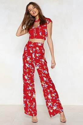 Nasty Gal Push Yourself Floral Pants