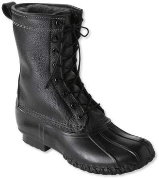 """L.L. Bean Men's Bean Boots by L.L.Bean, 10"""" Tumbled-Leather Shearling-Lined"""