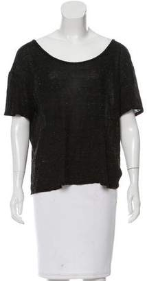 IRO Short Sleeve Crew Neck Top