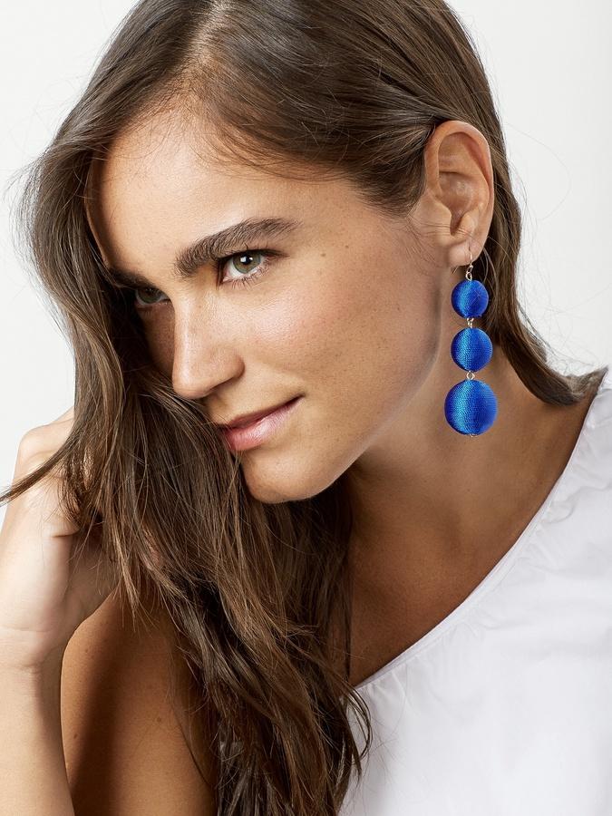 Fluoro Crispin Ball Drop Earrings 2