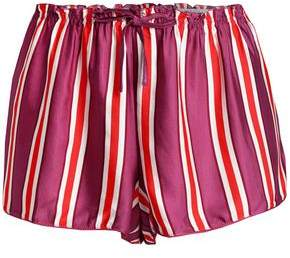 Love Stories Striped Satin Pajama Shorts