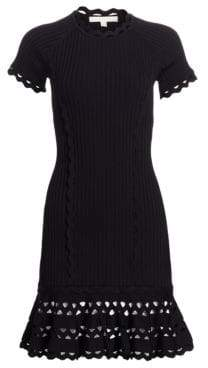 Jonathan Simkhai Ribbed Fit& Flare Dress