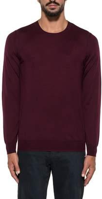 Paolo Pecora Bordeaux Wool Sweater