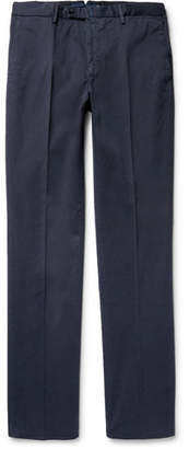Incotex Four Season Relaxed-Fit Cotton-Blend Chinos - Men - Blue