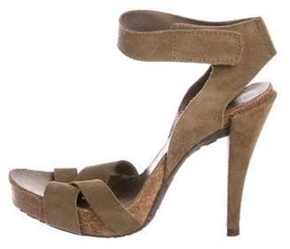 Pedro Garcia Suede Crossover Sandals