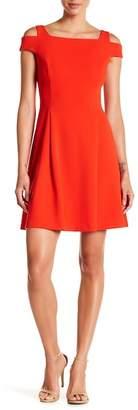 Vince Camuto Cold Shoulder Fit & Flare Dress
