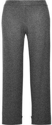 Theory Genie Wool-blend Flannel Straight-leg Pants - Anthracite