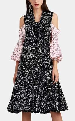 J.W.Anderson Women's Polka-Dot-Flocked Tech-Cady Dress