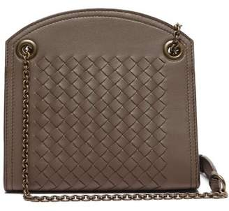 Bottega Veneta Intrecciato Leather Cross Body Bag - Womens - Grey