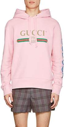 Gucci Men's Dragon-Embroidered Cotton French Terry Hoodie