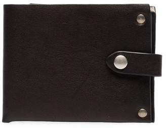 Ann Demeulemeester black flap stud embellished leather wallet