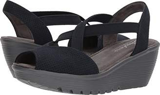 Skechers Women's Parallel-Piazza-Peep Toe Go Slingback Wedge Sandal