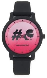 Karl Lagerfeld Stainless Steel Analog Strap Watch