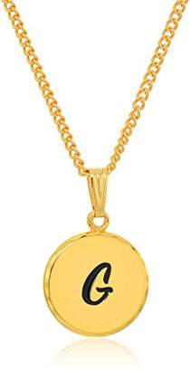 N. Halos & Glories Initial G Pendant Necklace