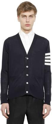 Thom Browne Intarsia Stripes Merino Wool Cardigan