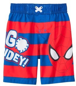 Marvel Boys' Spiderman Striped Swim Trunks (2T4T) - 8147448