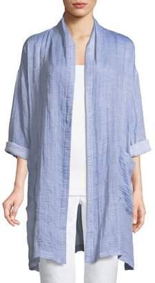 Eileen Fisher Crinkle Gauze Kimono Coat, Plus Size