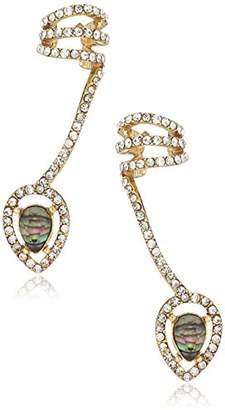 Rachel Roy Womens Marquis Shell Crawler Earrings