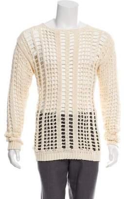 Balmain Open-Knit Woven Sweater