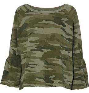 Current/Elliott Printed Cotton-Terry Top