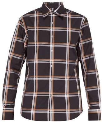 Dunhill Checked Cotton Shirt - Mens - Black