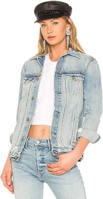 GRLFRND Daria Oversized Denim Jacket.