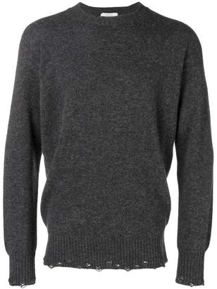Maison Flaneur distressed crew neck sweater
