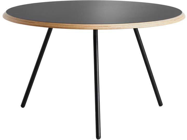Woud - Soround Side Table H 44 cm / Ø 60 cm, Laminat Schwarz (Fenix)