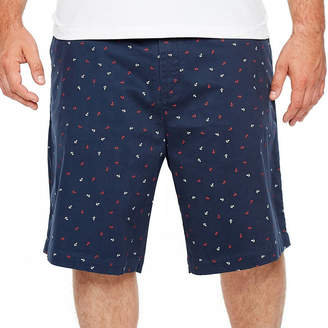 JMCO Jmco Mens Mid Rise Stretch Chino Short-Big and Tall
