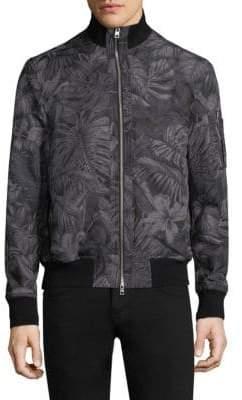Michael Kors Tropical Print Bomber Jacket